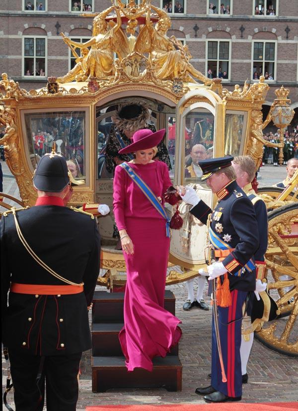 Arrivée de la famille royale
