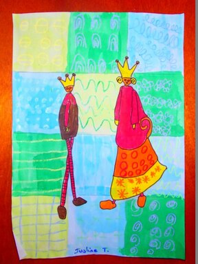 nos rois et reines à la manière de Magalie Roux