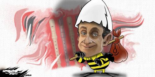 dessin de JERC du mercredi 28 mars 2018 caricature Nicolas Sarkozy Casse-toi, pauv' con ! www.facebook.com/jercdessin @dessingraffjerc