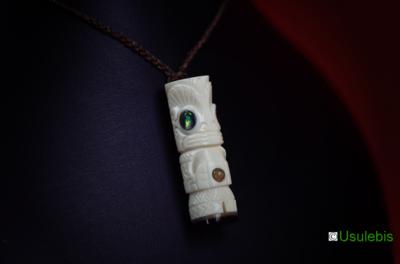 Blog de usulebis : Usulebis ,Artisan créateur de bijoux polynésiens , contact : usulebis@hotmail.fr, Pendentif Tiki ( modèle personnalisé)