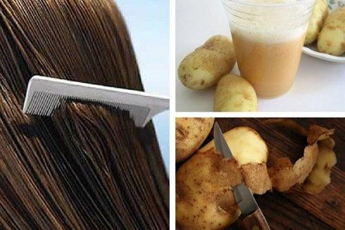 Saviez-vous que l'eau de peau de pomme de terre pouvait renforcer vos cheveux ?