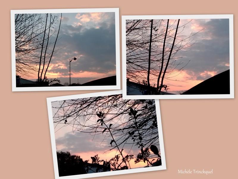 Le ciel au matin du 5 mars... et du 9 mars...