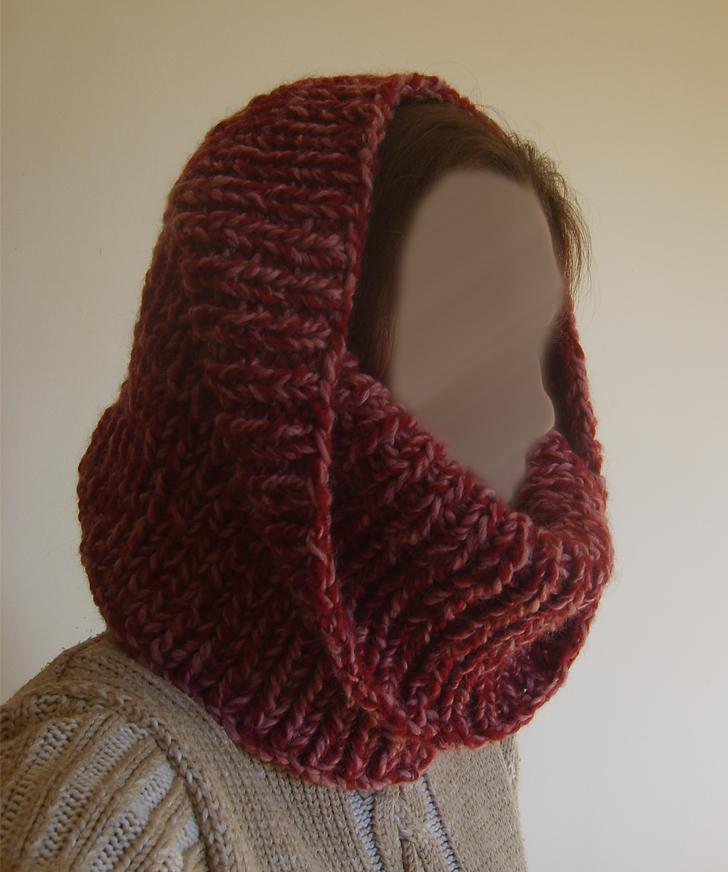patron tricot foulard circulaire