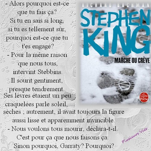 Citation Marche ou Crève de Stephen King