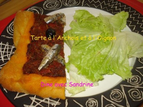 Une Tarte à l'Anchois et à l'Oignon