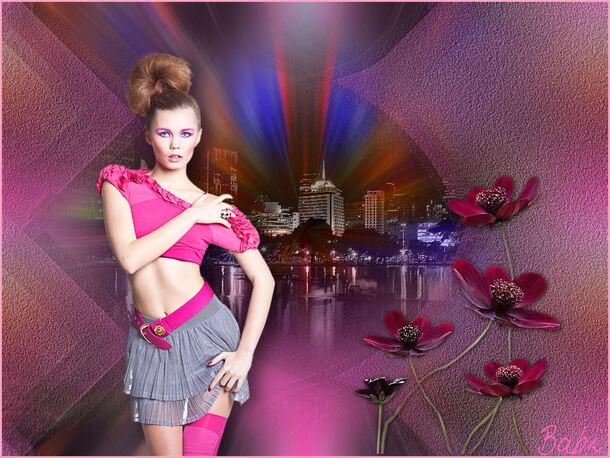 3.  Pink Rose