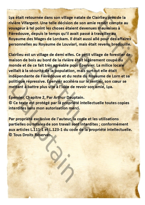 Épervier Chapitre 2: Le Forgeron.