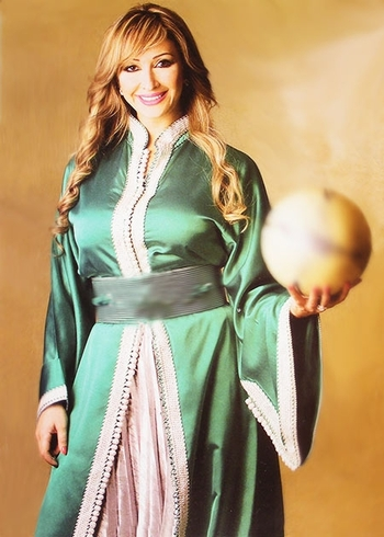 Takchita-marocaine-verte en ligne-style pour soirée marocaine TAK-S898
