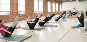 dance ballet class warm up studio class