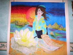 Aquarelles sur soie