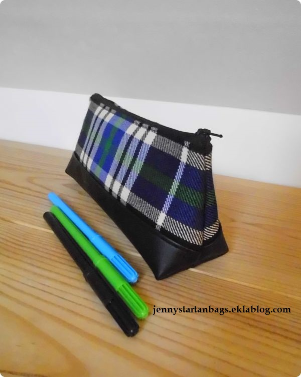Trousse à crayons Brittany National tartan