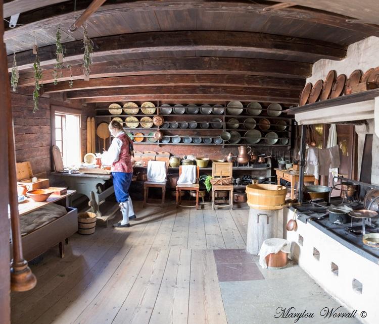 Suède : Écomusée Skansen Manoir de Skogaholm intérieur de l'aile est