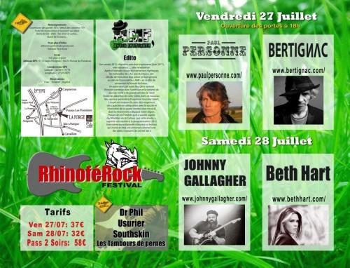 1er Rinoférock Festival 2012