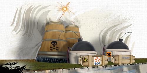 dessin de JERC du mardi 13 février 2018 caricature centrale nucleaire tricastin ça se passera près de chez vous www.facebook.com/jercdessin