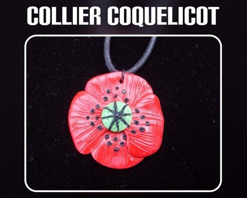 collier coquelicot