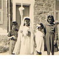 mes cousins de Licciola:Jean Jacques,Pauline,Antoinette et Angèle