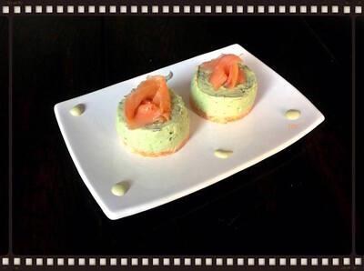 Cheesecake avocat / Saumon