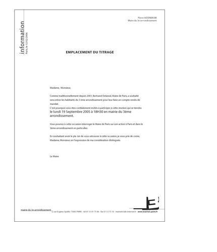 CHARTE GRAPHIQUE / Lettre d'information (modèle)