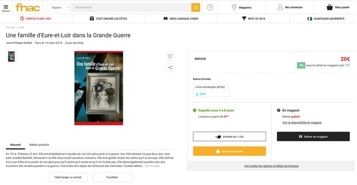 """Pour commander """"Une famille d'Eure-et-Loir dans la Grande Guerre"""""""