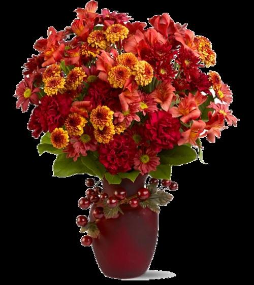 Fleurs  ou feuilles d'automne dans vase ( autome ) 2
