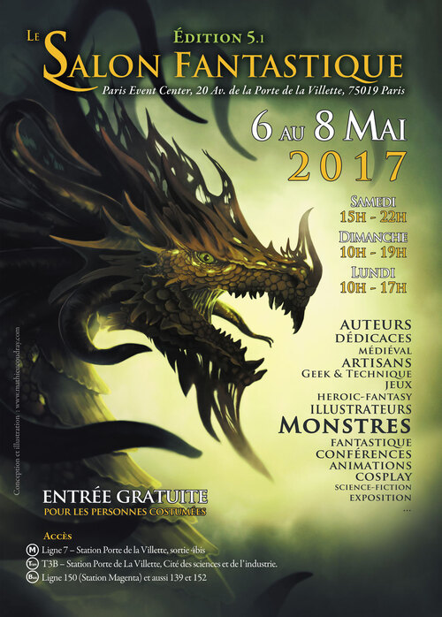 Salon Fantastique Paris - Porte de la Villette - du 6 au 8 mai 2017