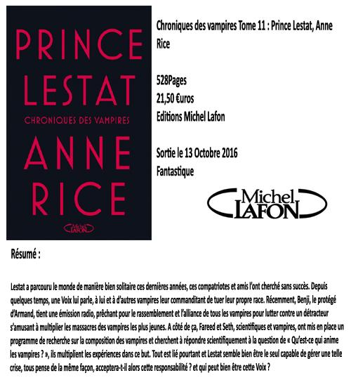 Chroniques des Vampires Tome 11 : Prince Lestat, Anne Rice