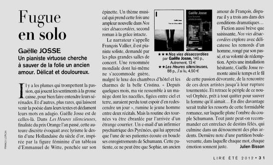 magazine Lire juillet 2012