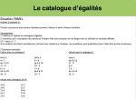 Le catalogue d'égalités