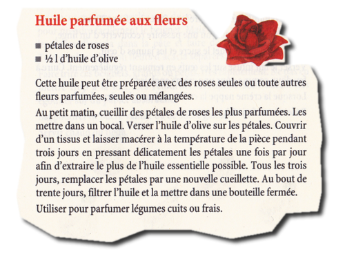 Huile parfumée aux fleurs