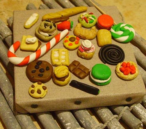 Porte-clés ou bijoux de sac gourmands