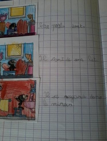 "ecriture quotidienne ""petit poilu"""
