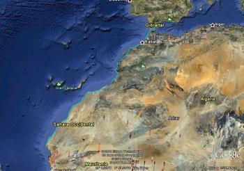 image trajet maroc aller