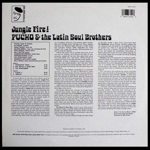 """Pucho & The Latin Soul Brothers : Album """" Jungle Fire ! """" Prestige Records PR 7765 [ US ]"""