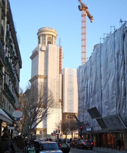bâche travaux blanche Saint-Sulpice