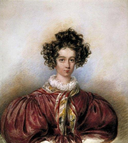 Portrait de George Sand en 1830, par Candide Blaize