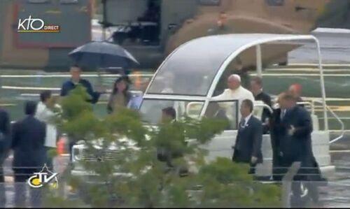 JMJ - Cérémonie d'accueil du pape François : « La foi accomplit dans notre vie une révolution » Zenit