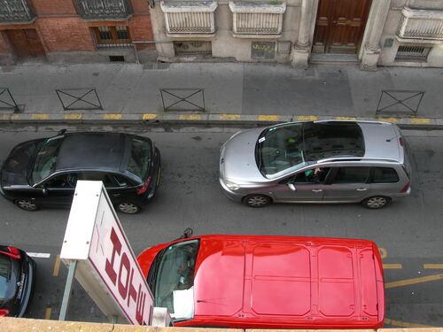 Par la fenêtre de ma chambre d'hôtel...