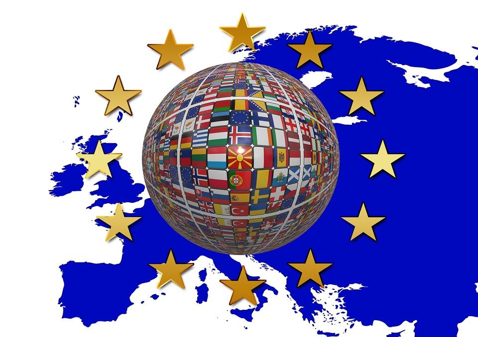 Europe, Drapeau, Star, Bleu, Européenne, Développement