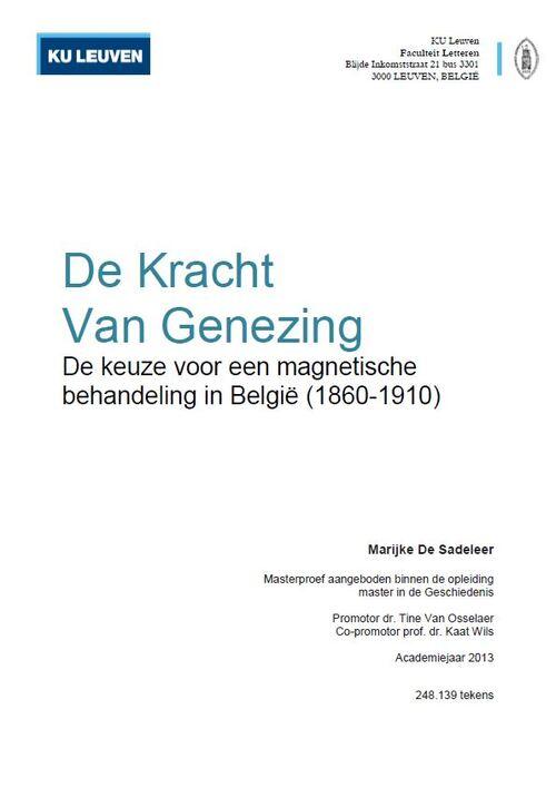 Marijke De Sadeleer - De Kracht van Genezing (2013)