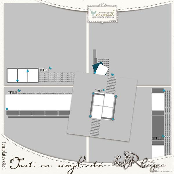 Templates Tout en simplicité 1 by LadyRdesigns