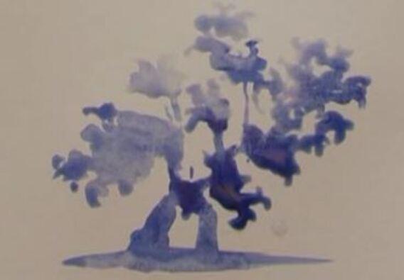 Dessin et peinture 1891 : Comment peindre un arbre pour les débutants ? - peinture aquarelle.
