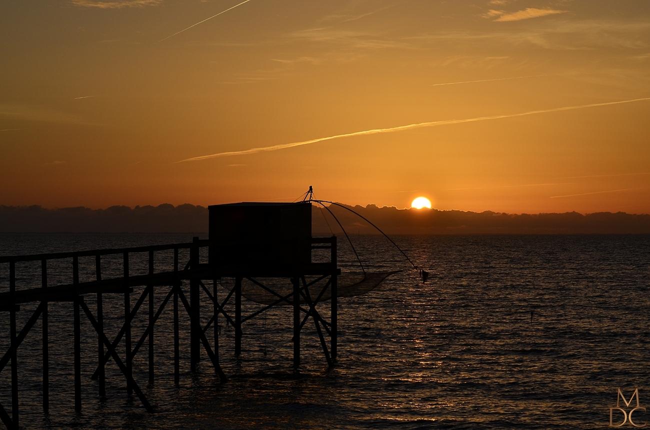 Coucher de soleil sur la côte Atlantique