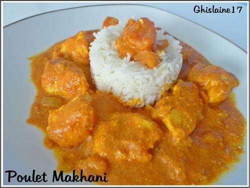 Poulet Makhani (à l'indienne)
