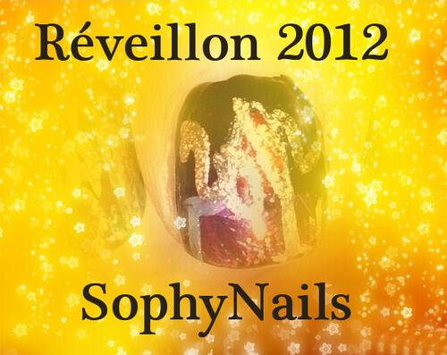 Nail Art Premier de l'An 2012 inspiré par Robin Moses