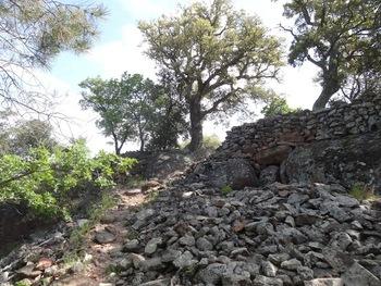 l'entrée de l'oppidum