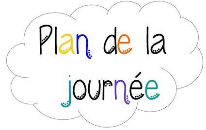 Plan de la journée