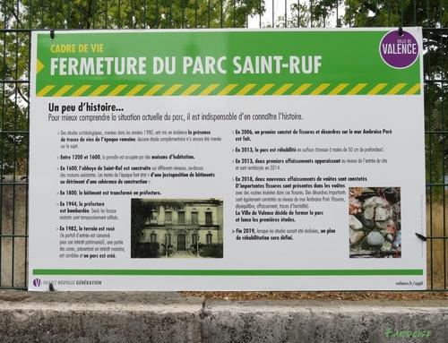 Fermeture du parc Saint Ruf