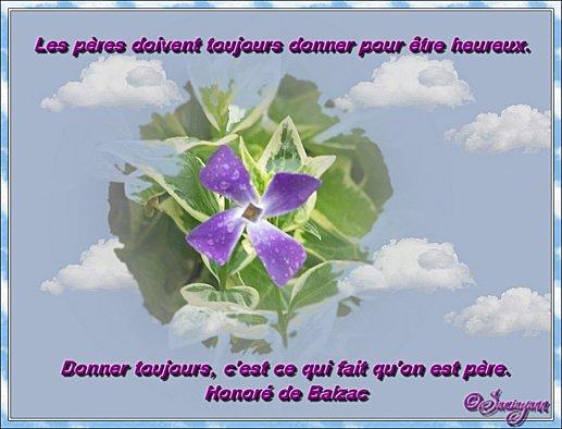 Carte fleurie f te des p res passion des fleurs - Citation fete des peres ...