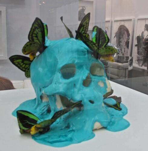 ArtParis 11 Pasqua crâne vanité vert