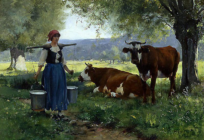 Julien Dupré. La laitière (1880-1910)